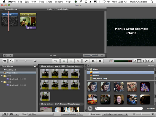How to Add Still Images to Movies in iMovie 09 - dummies