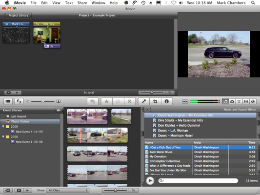 Call on your iTunes Library to add music to your iMovie.