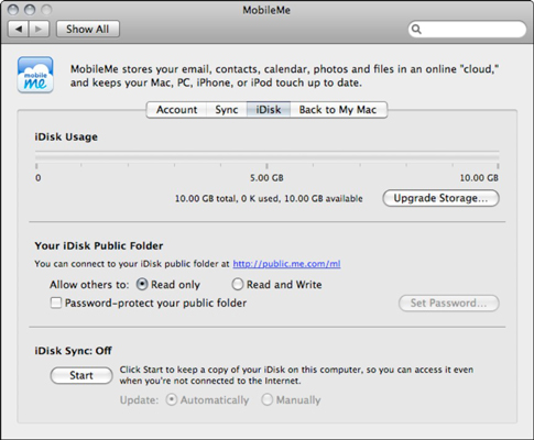 Your iDisk settings are available from System Preferences.