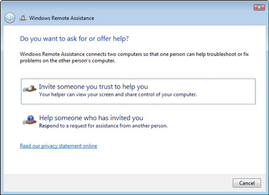 Ask for remote help windows 7 windows 98 and driver updates