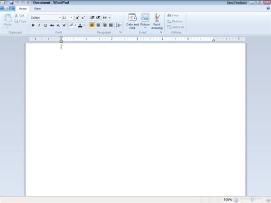 wordpad windows 7