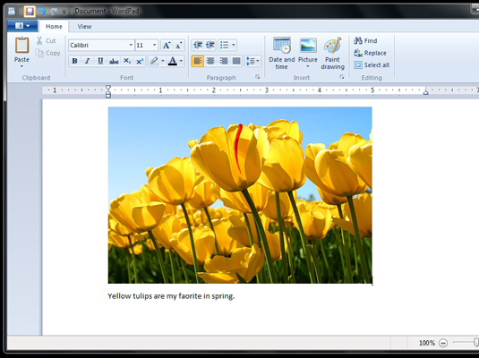 How to Use the New WordPad in Windows 7 - dummies