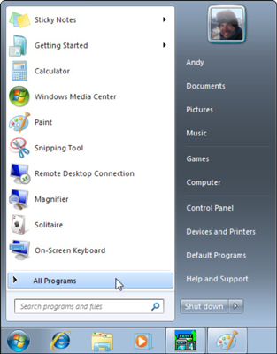 how to change the start menu on won 7