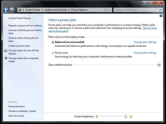 How to Change the Way the Power Button Behaves in Windows 7 - dummies