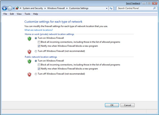 How to Enable the Windows 7 Firewall - dummies
