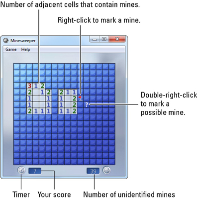 Game Cheats for Minesweeper in Windows 7 - dummies