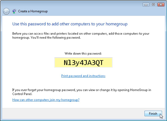 Type the password into each Windows 7 PC within your Homegroup.