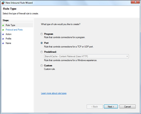 How to Open a Port in the Windows 7 Firewall - dummies
