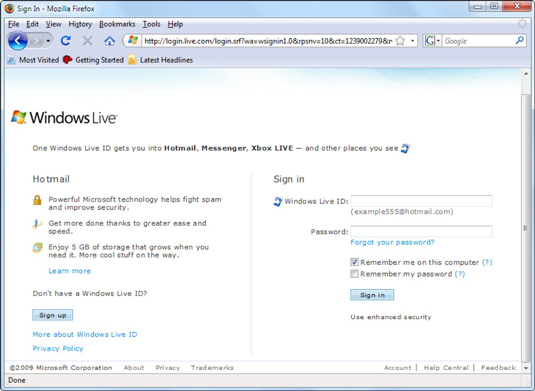 how to sign up for a windows live id in windows 7 dummies