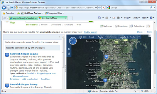 Rather than copy and paste an address into, say, Google Earth, in IE 8 you can simply highlight an