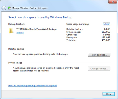 How to Delete Old Backup Files in Windows 7 - dummies