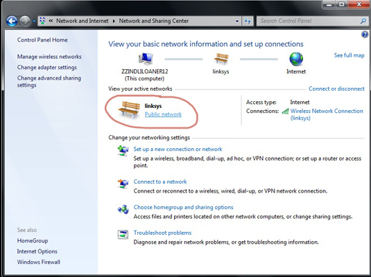 How to Change a Network Type in Windows 7 - dummies