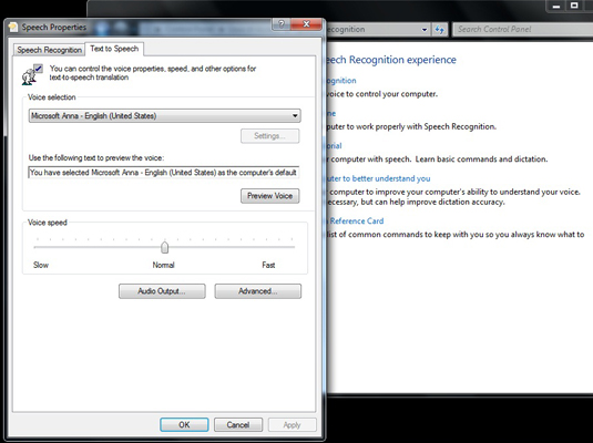 How to Modify Windows 7's Text to Speech Settings - dummies