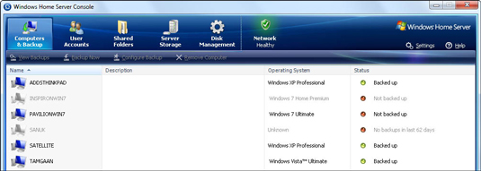 Windows Home Server acts as both a server and a network administrator, helping you keep your entire