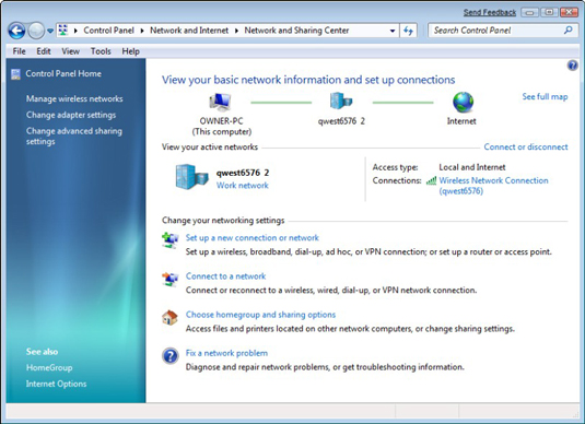 How to Share an Internet Connection in Windows 7 - dummies