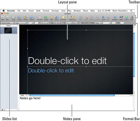 How to Use Keynote in Snow Leopard - dummies