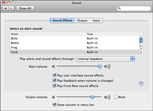 Set your sound preferences.