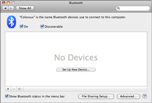 Control and configure your MobileMe account.