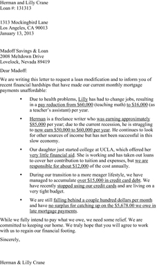 mortgage hardship letter template