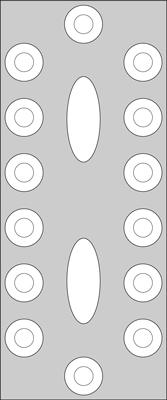 Centerpiece placement for banquet tables.