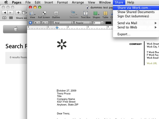 Post your document on iWork.com.