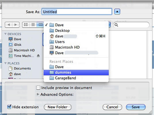 Choose where to store your Mac file.