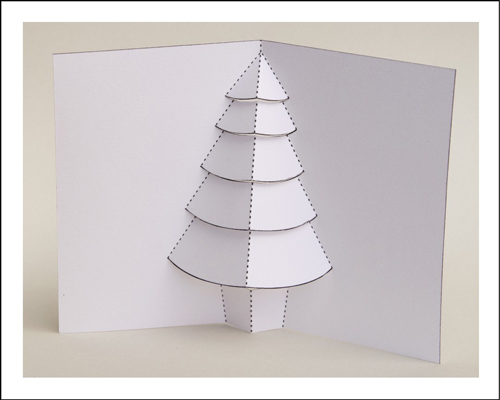 How to make a pop up christmas tree card dummies 4cut all the internal cut lines with a sharp craft knife solutioingenieria Gallery
