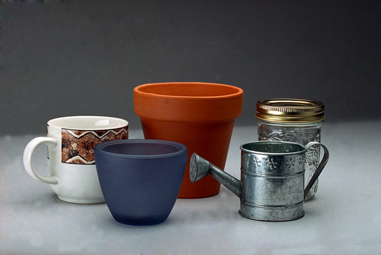 Decorative containers make great container candles.
