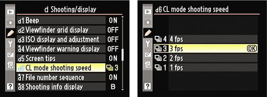 The Shooting menu for a Nikon D90 digital camera.
