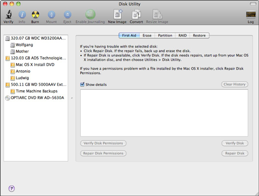 How to View Information about Partitions and Volumes in Mac OS X