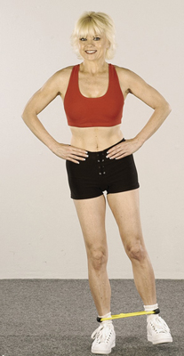 Work the outer thighs with this exercise.