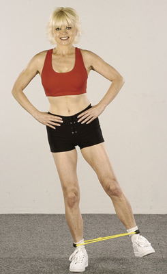 Do five to ten repetitions on each side. As you progress, work up to 10 to 20 repetitions.