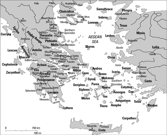 graphic about Printable Map of Greece known as Map of Historical Greece - dummies