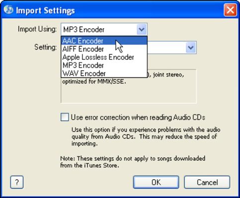 How to Convert Songs to a Different Encoder Format in iTunes - dummies