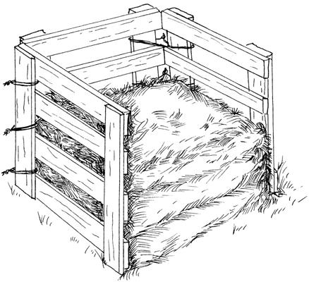 Make a simple wooden bin.