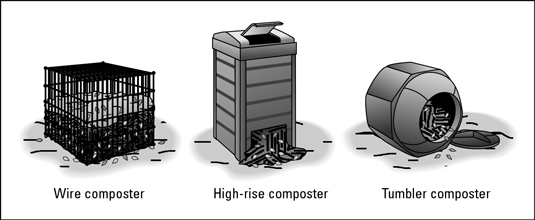 Commercial composters make composting easy.
