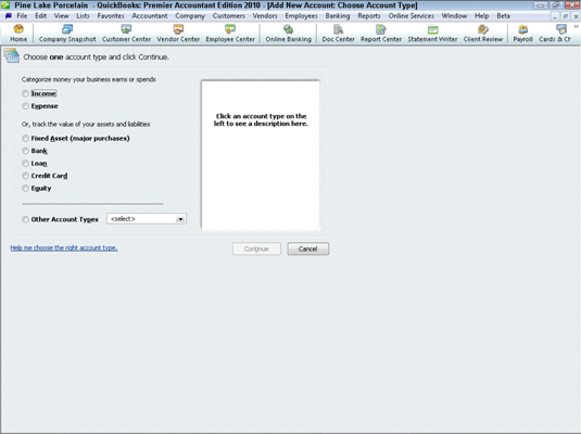 How to Set Up Your QuickBooks 2010 Chart of Accounts List