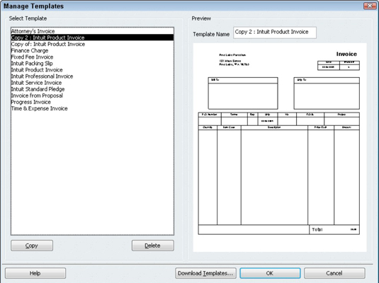 how to create a customized invoice form in quickbooks 2010. Black Bedroom Furniture Sets. Home Design Ideas