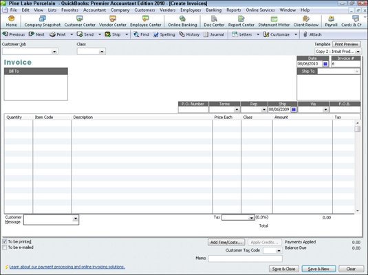How To Invoice A Customer With QuickBooks Dummies - Quickbooks invoice list