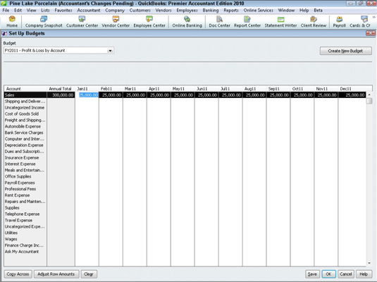 how to edit budget name in quickbooks