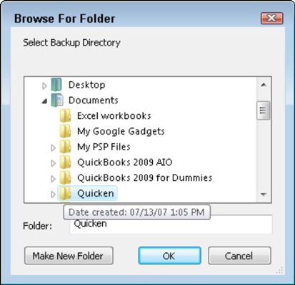 How to Back Up Your Quicken 2010 Files - dummies