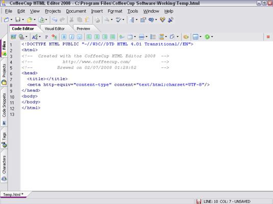 How to use coffeecup visual site designer. Wmv | tutorial 1.