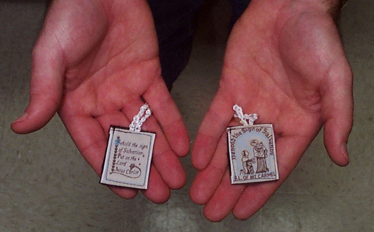 Scapulars are good reminders of prayer and faith.