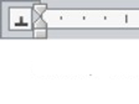 The tab icon in Word's ruler.