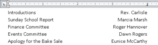 how to set tabs in microsoft word