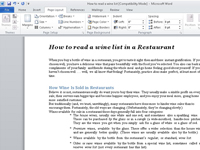 The Page Layout tab on Word's Ribbon.