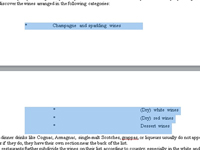 Highlighted text in a Word document.