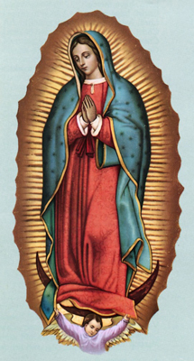 The famous depiction of Our Lady of Guadalupe.