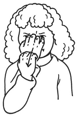 Girl using sign language to express anger.
