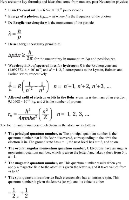 Physics II For Dummies Cheat Sheet - dummies